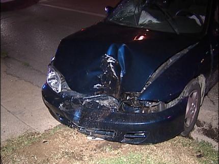 Driver Arrested After Striking Tulsa Utility Pole