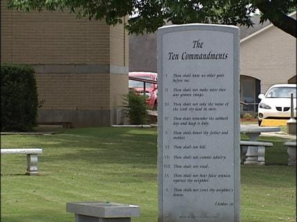 Court: Oklahoma 10 Commandments Display Is Religious