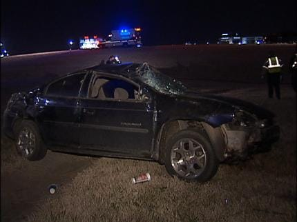 Man Arrested Following Overnight Tulsa Crash