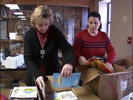 Supplies Donated To Twin Hills School