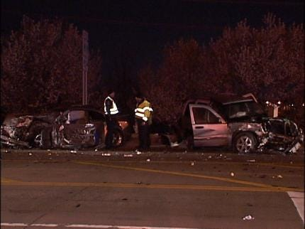 Cars Racing Leads To Tulsa Traffic Accident
