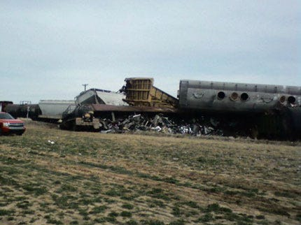Train Derails In Grady County