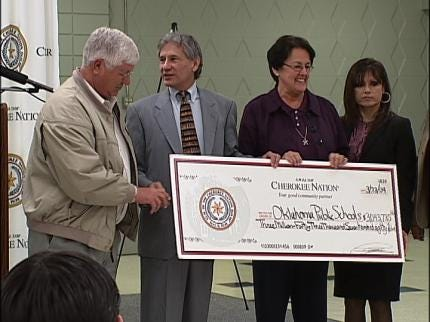 Cherokee Nation Gives To Schools