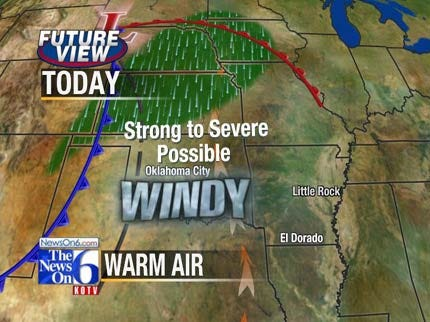 Severe Storms Possible Across Tulsa Area