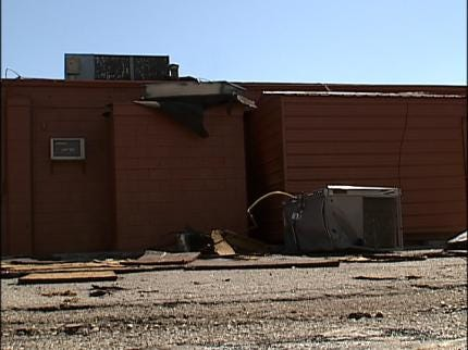 Storm Damages Sand Springs Church