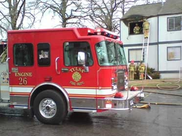Fire Damages Tulsa Apartment