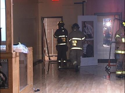Sprinkler Head Break Floods Tulsa Businesses
