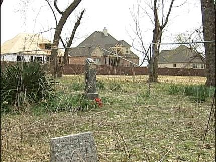 Bixby Neighborhood Surrounds Cemetery