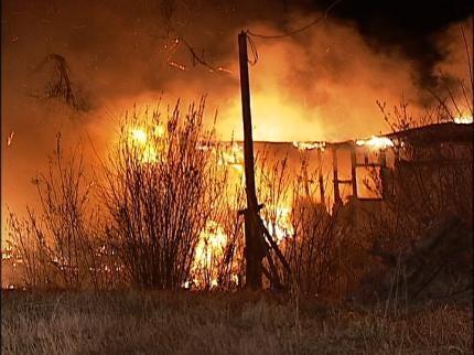 Fire Destroys Berryhill Mobile Home