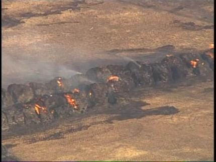 1,000 Acres Burned In Grass Fire Near Bristow