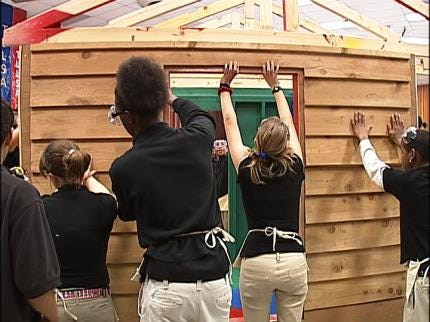 Tulsa Students Learn Math By Building House