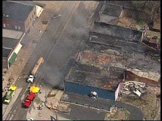 Fire Destroys Part Of Downtown Weleetka