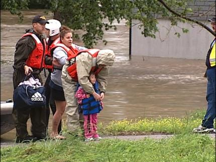 Flooding Causing Concerns In Pryor