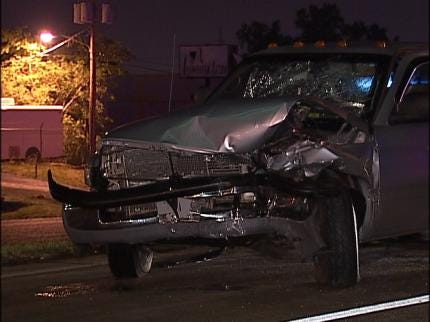 Tulsa Safety Barrier Stops Pickup Truck
