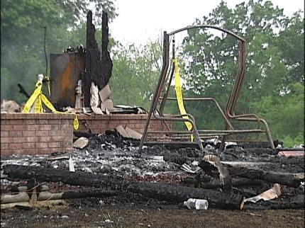 Flammable Liquid Caused Fatal Mayes Co. House Fire