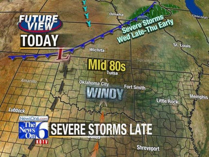 Chance For Tornadoes In Eastern Oklahoma