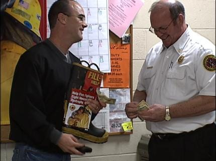 Tulsa Firefighters Ready To Fill The Boot