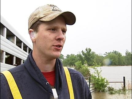 Cleanup Under Way In Flooded Pryor