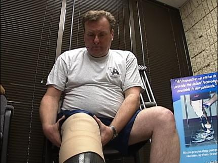Tulsa Officer Adjusting To New Leg