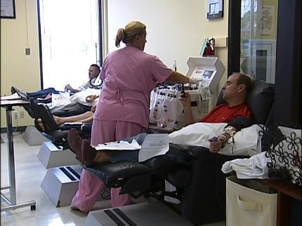 Crash Survivor Encourages Blood Donations