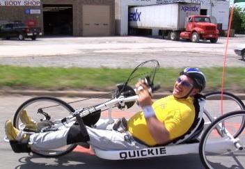 Hand-Biker Challenges Us To Get Outdoors