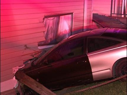 Woman Crashes Car Into Tulsa Apartment Building