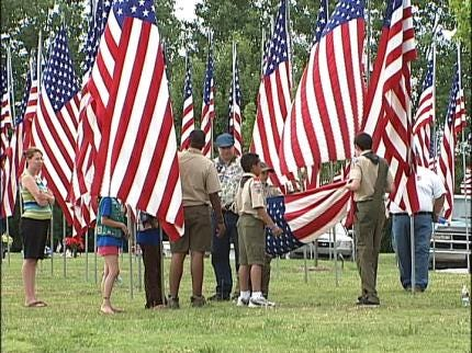 Flag Retirement At Floral Haven Cemetery