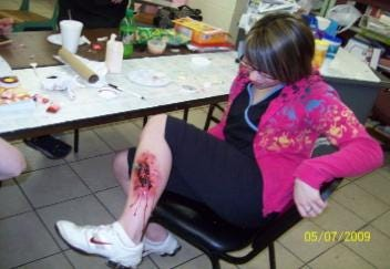 Scary Make-up Class in Tahlequah Beauty School