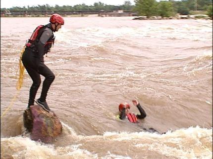 Jenks Firefighters Train For Swift-Water Rescues