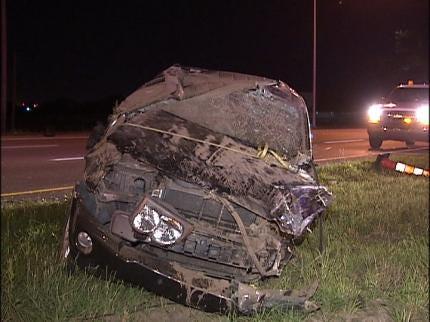 Driver Rolls SUV On Highway 169