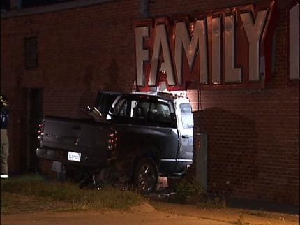 Man Crashes Truck Into Tulsa Family Dollar