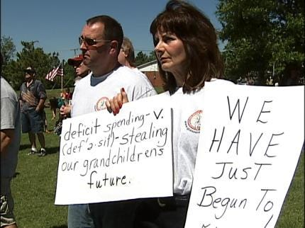 Owasso Group Protests High Taxes