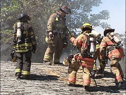 State Firefighters In Collinsville For Training