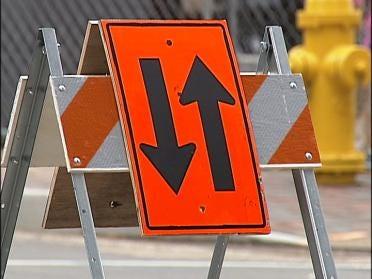 Downtown Tulsa Repaving Warning