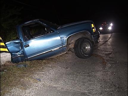 Two Pickup Trucks Damaged In Two Tulsa Crashes Overnight