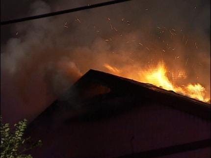Two Vacant Homes Burn Overnight In Tulsa And Catoosa