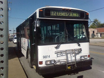 Bicyclist Hospitalized After Collision With Tulsa Bus