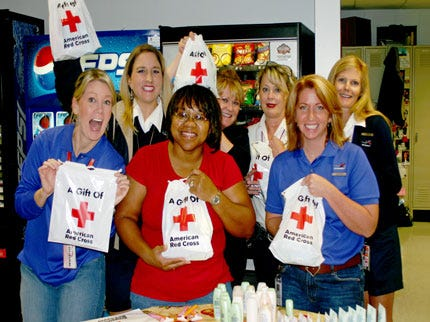 Airline Employees Helping Tulsa Red Cross Chapter