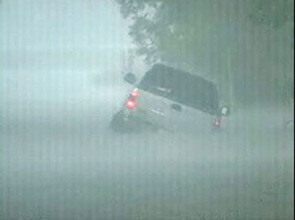 Green Country Drivers Have Trouble In Heavy Rainfall