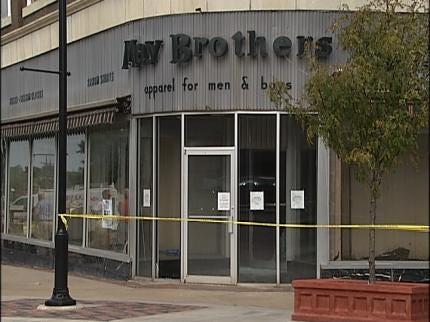 Shop Owners Survey Damage To Historic Bartlesville Building