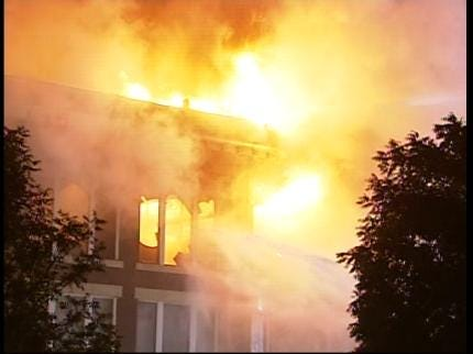 Bartlesville Home Searched In Connection With Downtown Fire
