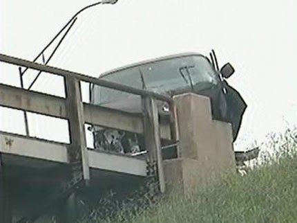 Man Crashes Van Into Tulsa Railroad Bridge