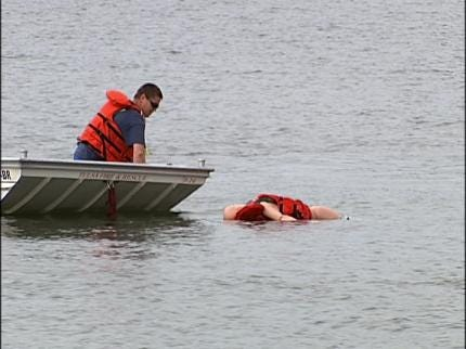 Tulsa Firefighters Practice Water Rescues