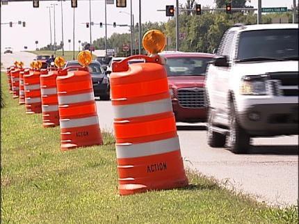 Repairing Potholes In Historic Route 66 In Claremore