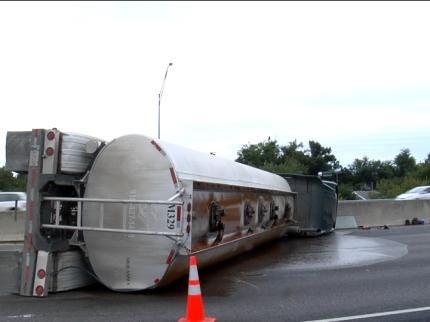 Molasses Truck Accident Shuts Down Tulsa Highway
