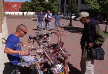 Tulsa Street Drummer Entertains Downtown