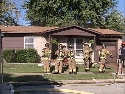 Tulsa House Smolders While Family Attends Church