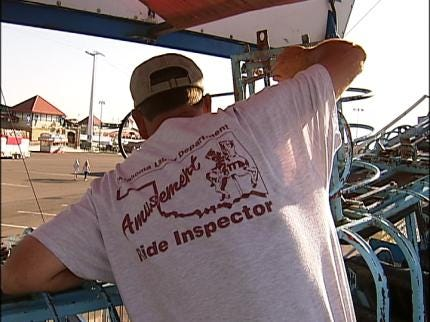 Tulsa State Fair Rides Get Inspected