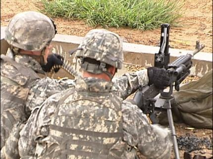 Oklahoma Soldiers Prepare For Middle East Mission At Camp Gruber