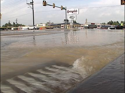 Water Main Breaks Causing Damage To Several Tulsa Streets
